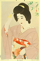 Shinsui Ito 1898-1972 - Beauty and Hair Ornament