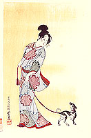 Gyosui Kawanabe 1868-1935 - Beauty and Dog