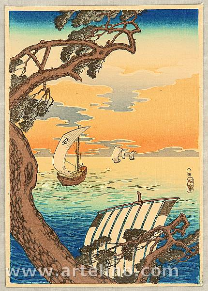 Hiroaki Takahashi 1871-1945 - Coming Ships