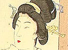 Chikanobu Toyohara 1838-1912 - Beauties and Street Performer