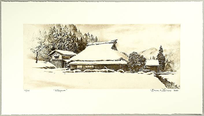 Brian Williams born 1950 - Kitayama - Farmhouse in Snow
