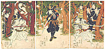 Hokushu Shunkosai active ca. 1810-1832 - Kado Katakiuchi Sozenji Baba