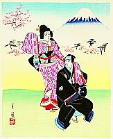 Gekko Ohashi 1895-? - Lovers - Kabuki Series I