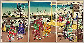 Chikanobu Toyohara 1838-1912 - Early Spring