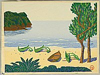 Masao Maeda 1904-1974 - Beach at Bonin Islands - New One Hundred Views of Japan