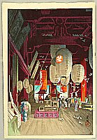 Eisho Narazaki 1864-1936 - Inside of Asakusa Kannon Temple
