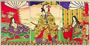 Chikanobu Toyohara 1838-1912 - Courtiers