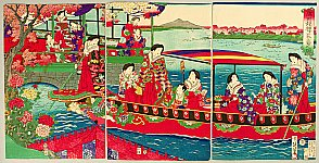 Chikanobu Toyohara 1838-1912 - Angel Pleasure Boat