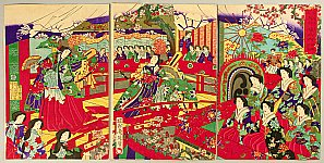 Chikanobu Toyohara 1838-1912 - Dance Performance