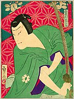 Sadanobu II Hasegawa 1848-1886 - Jitsukawa Enzo - Kabuki