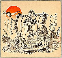 Zeshin Shibata 1807-1891 - Treasure Boat