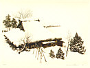 Brian Williams born 1950 - Farmhouse in Snow