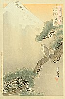 Gekko Ogata 1859-1920 - Egle and Pine - One Hundred Mt. Fuji