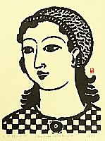 Unichi Hiratsuka 1895-1997 - Girl with Knitted Cap