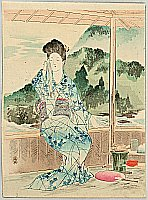 Shoso Mishima 1856-1928 - Beauty at Resort