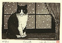 Hiroto Norikane born 1949 - Cat Beside Window
