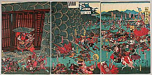 Yoshitora Utagawa active ca. 1840-1880 - Battle of Wada
