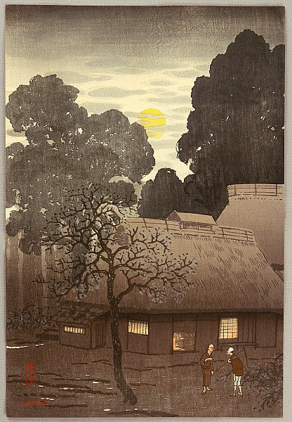 Yoshio Kawatsura 1880-1963 - Village in Twilight