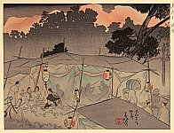 Shunpan Katayama fl.ca. 1920s - Great Kanto Earthquake - Harajuku on That Night