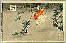 Chikanobu Toyohara 1838-1912 - Bamboo Jump