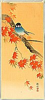 Sozan Ito 1884-? - Blue Bird in Autumn