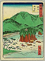 Hiroshige II Utagawa 1829-1869 - Sixty-eight Famous Views of Provinces - Echigo