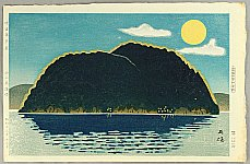 Hideo Nishiyama born 1911 - Chikibu Island in Moonlight