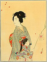 Toshikata Mizuno 1866-1908 - Back from Festival