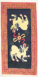 Tibetan Carpet - Snow Lions