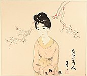 Yumeji Takehisa 1884-1934 - Beauty and Plum Blossom