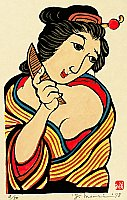 Yoshitoshi Mori 1898-1992 - Beauty with Comb