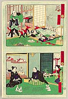 Ikkei Shosai ca. 1870 active - Good House and Evil House