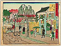 Hiroshige III Utagawa 1842-1894 - Kokon Tokyo Meisho - Horse Tram