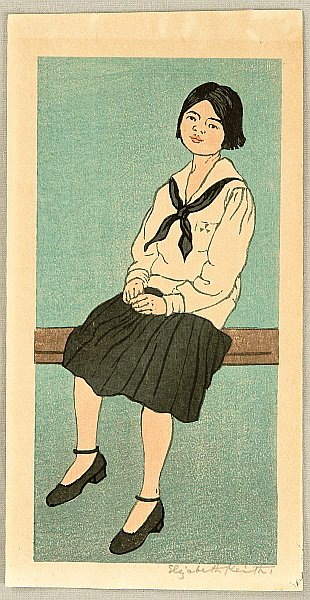 Elizabeth Keith 1887-1956 - Sitting Girl