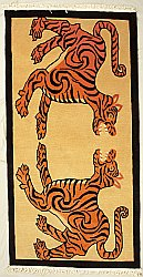 Tibetan Carpet - Fighting Tigers