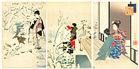 Shuntei Miyagawa 1873-1914 - Snow Play