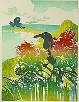 How a Woodblock Print is Made - Currawongs, Lord Howe Island