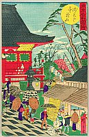 Hiroshige III Utagawa 1842-1894 - Tokyo Meisho Zue - Asakusa Kinryuzan