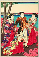 By Kuniaki II Utagawa 1835-1888 - Meiji Emperor and Court Ladies