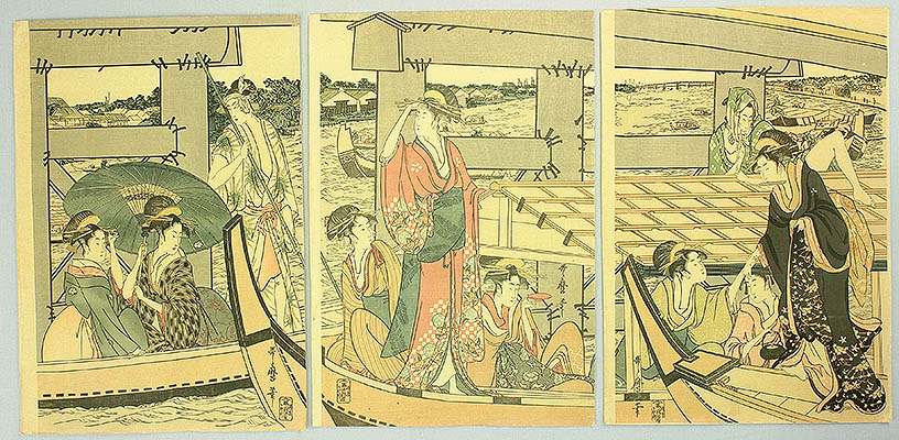 Utamaro Kitagawa 1750-1806 - Beauties on the Boats