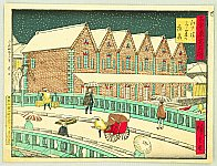 Hiroshige III Utagawa 1842-1894 - Kokon Tokyo Meisho - Edo Bashi