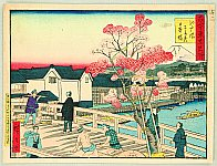 Hiroshige III Utagawa 1842-1894 - Kokon Tokyo Meisho - Edo Bashi in Spring