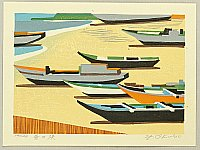 Yutaka Okubo born 1924 - Beach in the Day