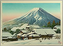Hasui Kawase 1883-1957 - After Snow at Yoshida