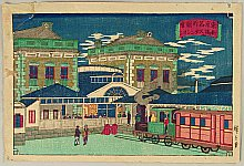 Hiroshige III Utagawa 1842-1894 - Famous Places of Tokyo - Shinbashi