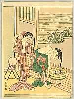 Harunobu Suzuki 1724-1770 - Washing Hairs