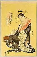 Eishi Hosoda 1756-1829 - Green House Beauty