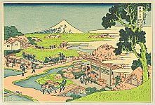 Hokusai Katsushika 1760-1849 - Fugaku Sanju-rokkei - Katakura Tea Garden