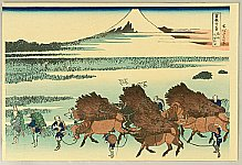 Hokusai Katsushika 1760-1849 - Fugaku Sanju-rokkei - Nitta