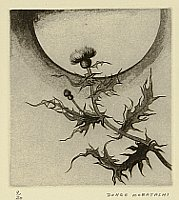 Donge Kobayashi born 1927 - Moon and Thistle